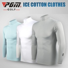 цены Pgm Summer Men Golf Ice Silk Shirts Long-Sleeved Sunscreen Tops Breathable Quick Dry Tight Muscle Underwear AA11814