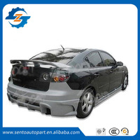 Hot sale ABS Primer Color GT Style Sedan universal rear spoiler with stop light