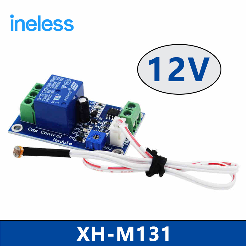 XH-M131   12V  photoresistor module photoelectric sensor light sensor light control switch light detection dc 5v light control switch photoresistor relay module detection sensor xh m131