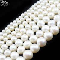 """Kostenloser Versand High Grade 4mm 6mm 8mm 9mm 10mm 11mm 12mm Natürliche Runde weiß Süßwasser Perle Perlen Strang 15"""""""