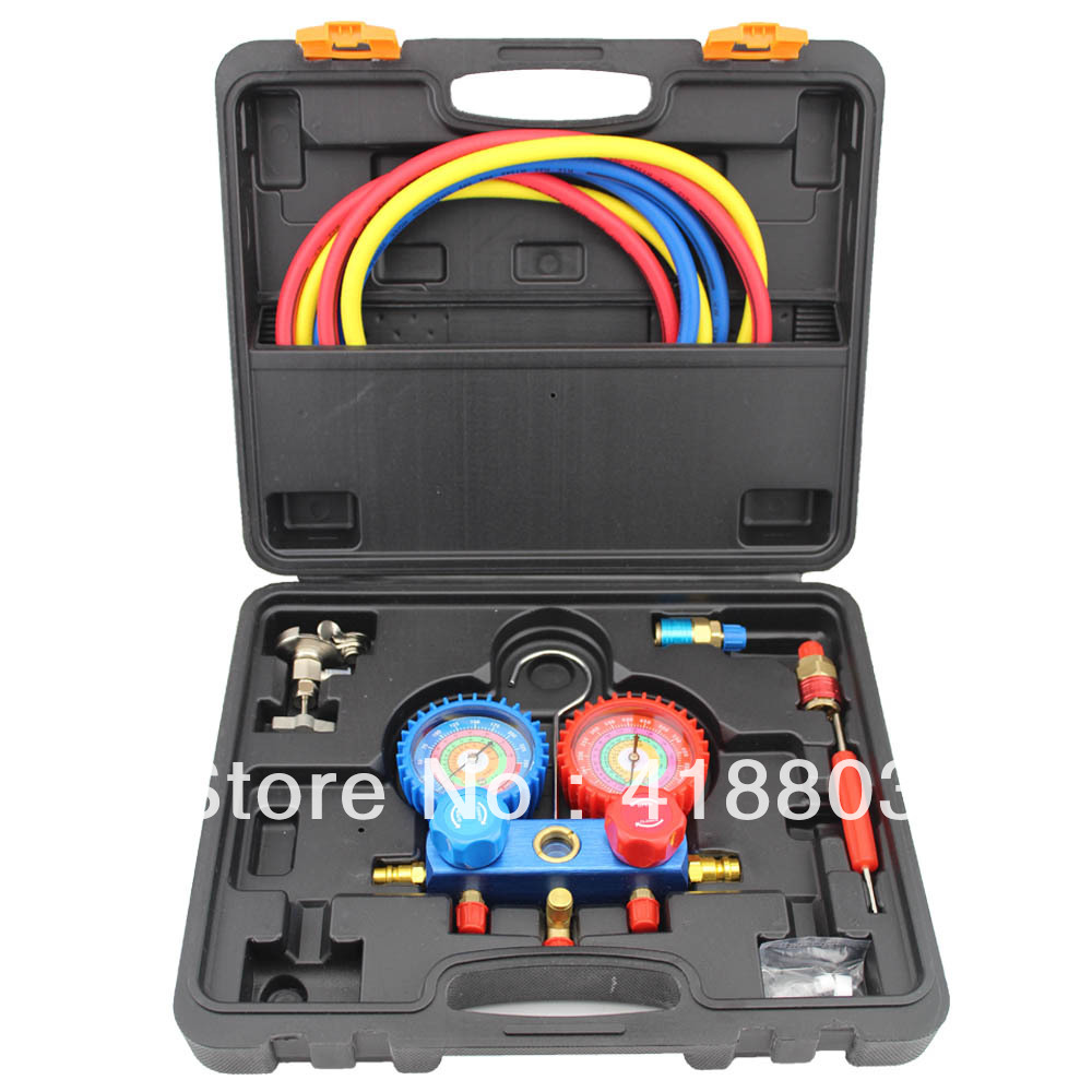 Refrigeration Tools of Manifold Gauge for Air Conditioning System for R134A R404A R22 R410A