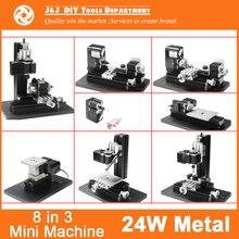 8 en 3 todo de Metal Mini máquina del torno , Mini máquina combinada de la herramienta ; bricolaje Mini máquina del torno herramienta, Soft Metal o de procesamiento de madera
