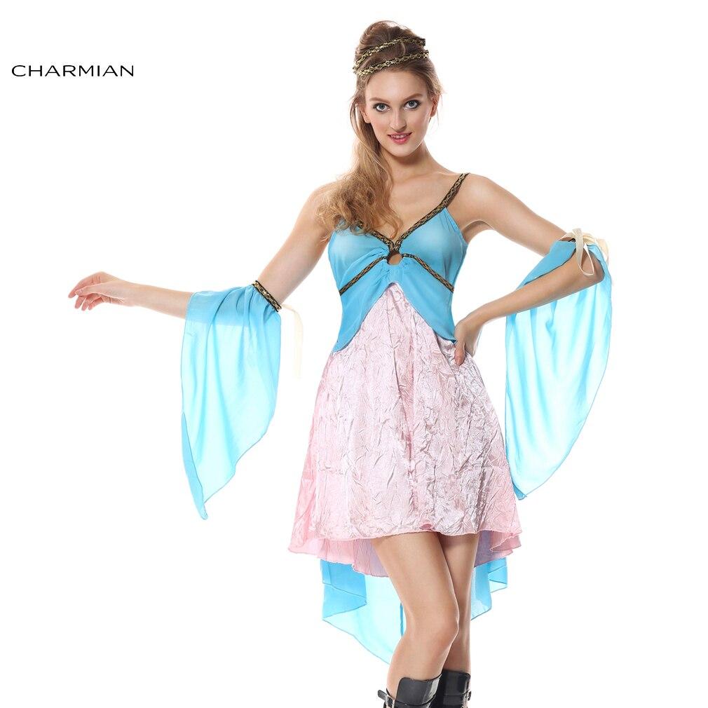 Charmian Sexy Halloween Costume for Women Greek Goddess Roman Princess Costumes Fancy Dress Fantasias Feminina Para Festa