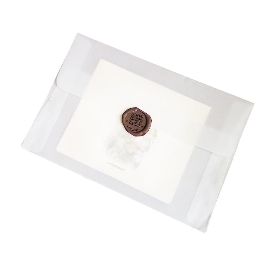 100pcs/lot Blank Translucent vellum envelopes DIY Multifunction Gift card envelope with seal sticker for wedding birthday 3