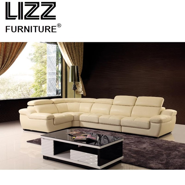 2018 New Design L Shape Modern Hotel Sectional Sofa Set Modern Genuine  Leather Sofa With Corner