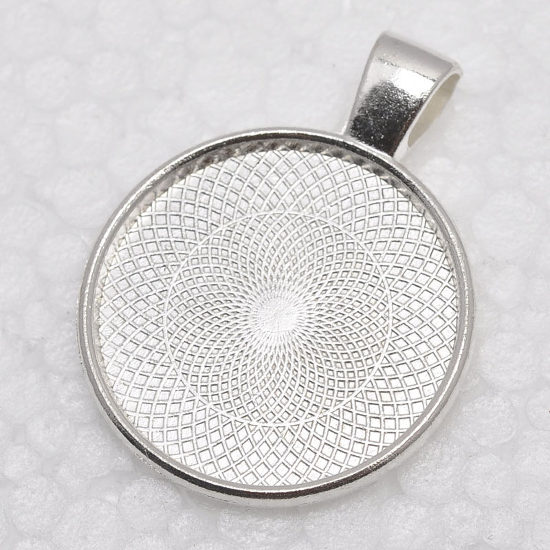 1 inch round shiny silver plated pendant trays blank pendant bases 25mm bezel pendant settings for glass or stickers in pendants from jewelry 1 inch round shiny silver plated pendant trays blank pendant bases 25mm bezel pendant settings for glass or stick Image collections