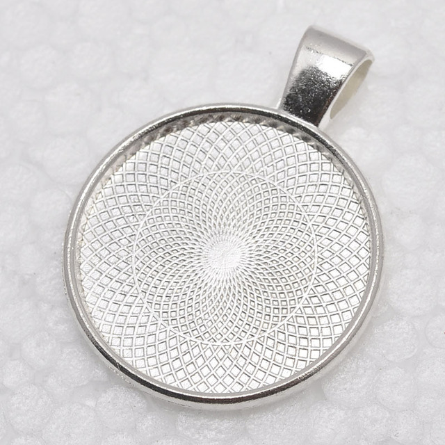 1 inch round shiny silver plated pendant trays blank pendant 1 inch round shiny silver plated pendant trays blank pendant bases 25mm bezel pendant mozeypictures Image collections