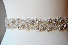 Rhinestone trim , crystal beaded trim for wedding belt bridal sash wedding gown embellishment bridal accessories 4 x 45 cm