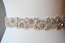Rhinestone trim , crystal beaded trim for wedding belt bridal sash wedding gown embellishment bridal accessories 4 x 45 cm