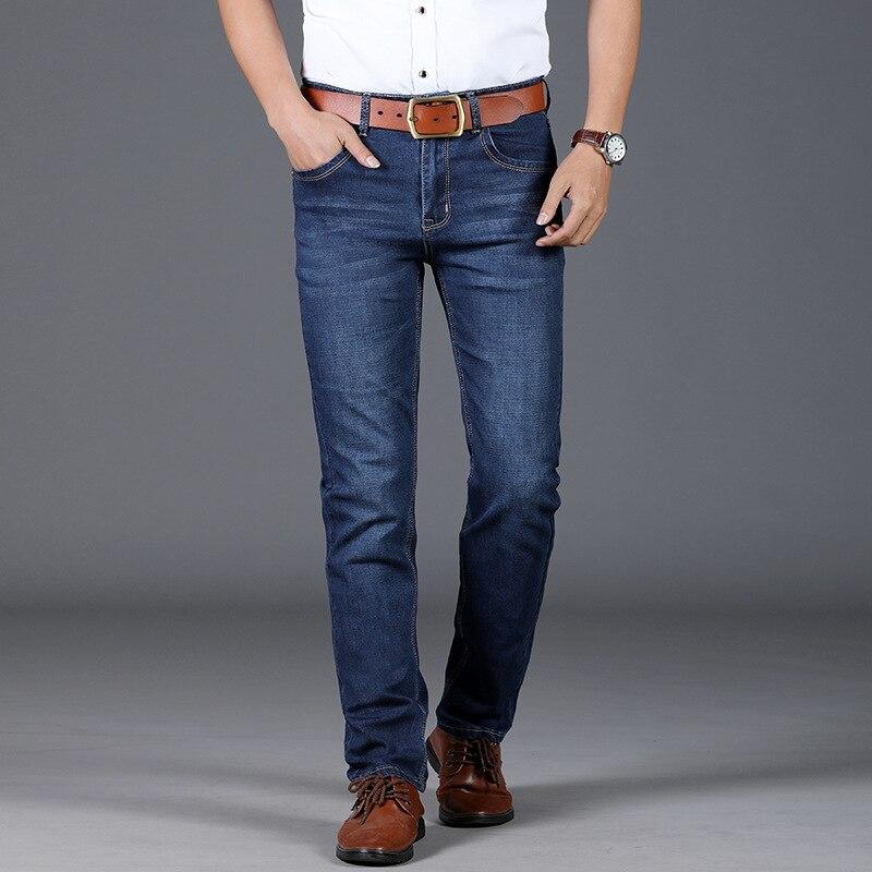 2018 мужские джинсы, мужские тонкие DL8010 брюки развивать нравственность Молодежный Бизнес повседневные эластичные прямо бум ...