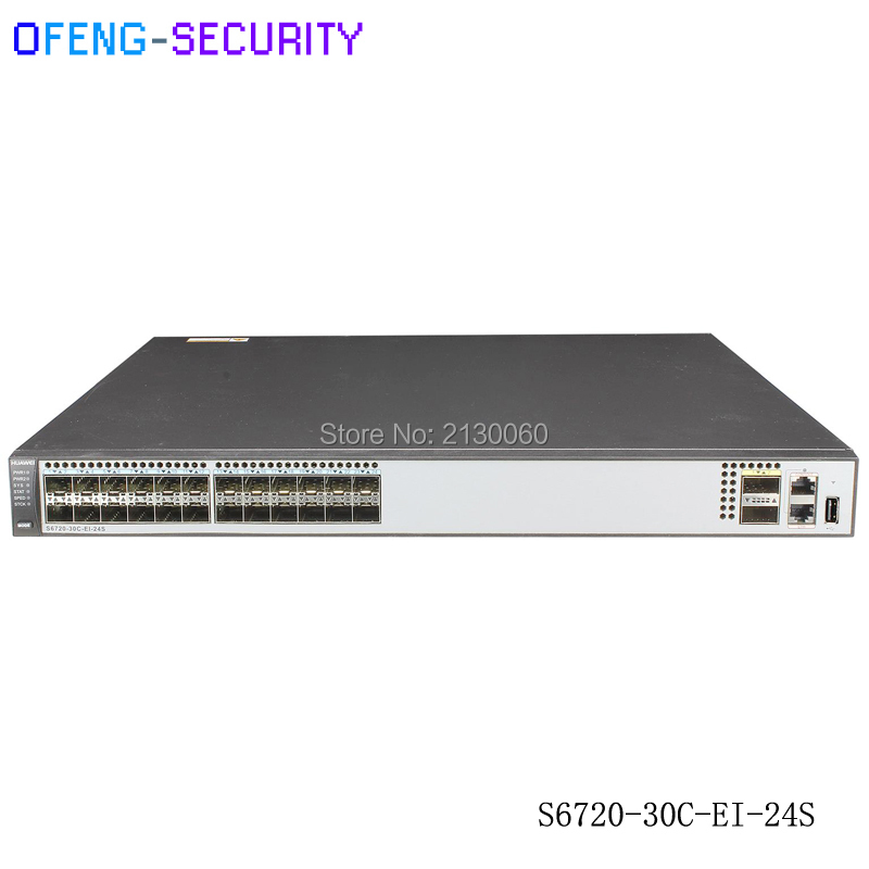 Huawei 24 Port SFP Switch S6720-30C-EI-24S With 24 Pcs GE Port And 2 PCS QSFP Switch