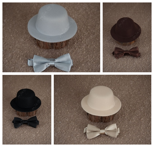 Newborn baby photography props hat bow tie photo props accessories multi color baby love cap in Hats Caps from Mother Kids