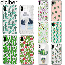 ciciber For Iphone 7 8 6 6S Plus 5S SE X XR XS MAX Soft silicone TPU Cover for iphone 11 Pro Max Phone Case Cactus Plant Coque сумка спортивная nike nike ni464bubwdc0