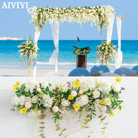 Custom wedding simulation flower arrangement flower decoration props arch flower arrangement floral wedding scene fake flower
