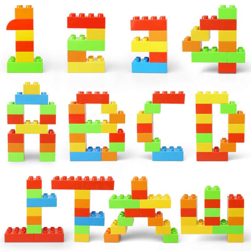 גדול גודל Duploe רכבת אבני בניין לבנים אבזר תואם עם Duplos בסיס צלחת שקוף כיכר צעצועים לילדים