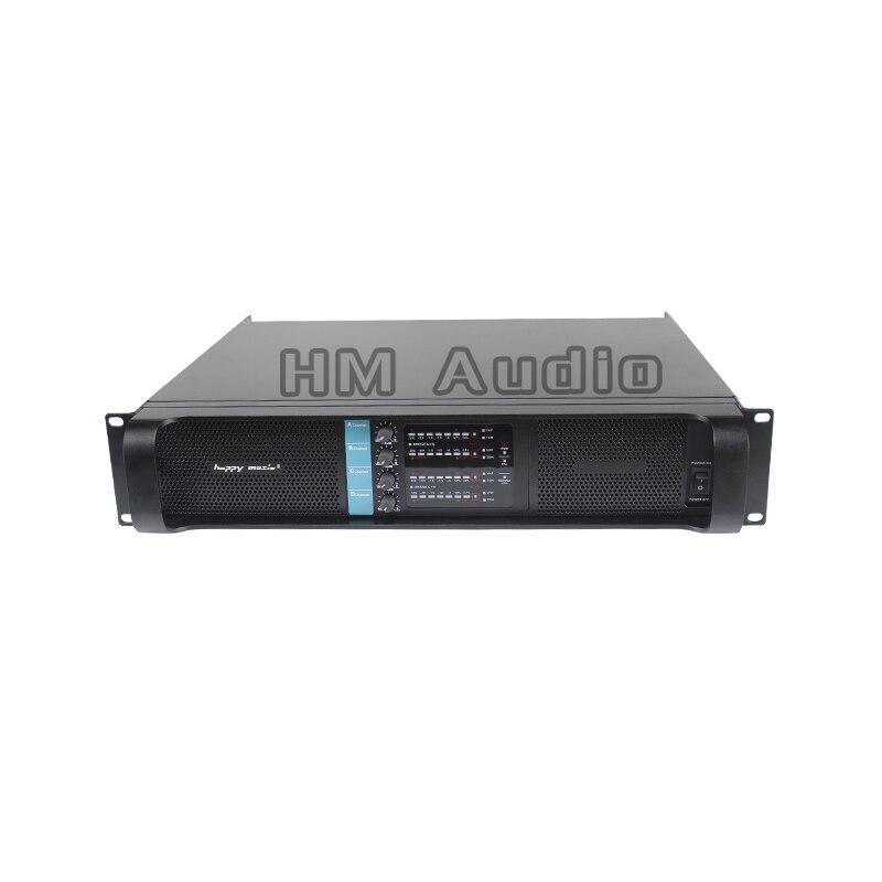 Amplificador de 4 canais H 10000q laboratório gruppen line array profissional amplificador 4*2500 w amplificador de potência de som linha de amplificadores