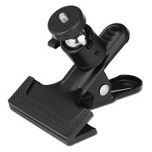 Clip Clamp Holder Mount with Universal Metal Standard Ball Head 1/4 Screw for Camera Flash Holder Bracket for Photography