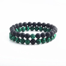 2pcs/set Natural Stone Mixing beads Bracelet men Bracelets & Bangles Jewelry for gifts pulseras