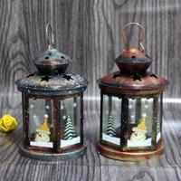 Christmas Decorative Lantern Votive Candle Holder Hanging Lantern Vintage Candlesticks Home Party Wedding New Year Decoration