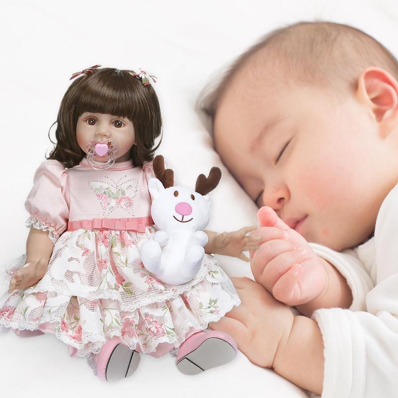 NPK 60 см моделирование прекрасная Девочка Кукла Новорожденный Возрожденный игрушка подарок Детская игрушка на день рождения - 6