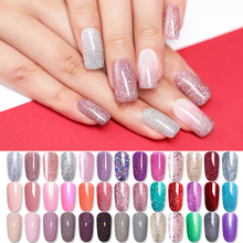 LILYCUTE Glitter Shimmer UV Gel Holographic Sequins Purple  Colorful Soak Off Shinning Lacquer Nail Art Manicure