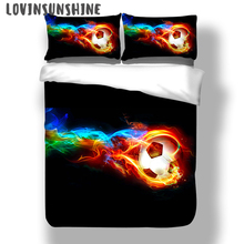 LOVINSUNSHINE Comforter Bedding Sets King Size Duvet Set 3d Football Print Kids Cover AB#54