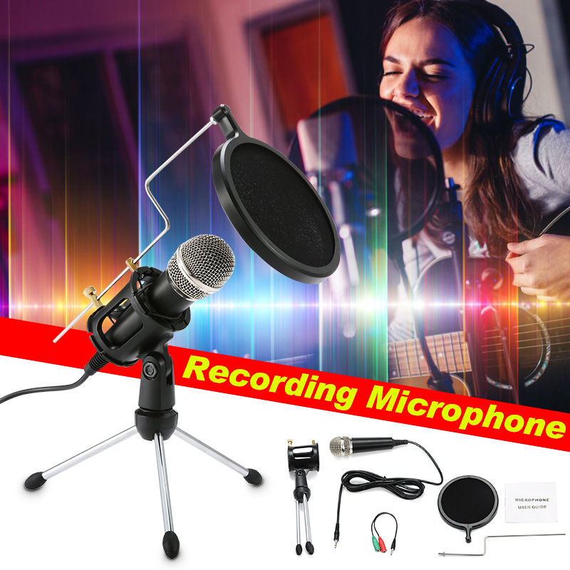 Condenser Microphone NASUM Portable Mini Recording Microphone With 3.5mm Plug &Play Home Studio Microphones For Online Chatting,