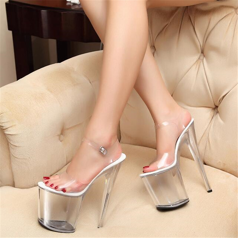 Sandals Women 2018 Europe and the United States hate days High Heel 20cm Model Catwalk Nightclub Sexy Waterproof ShoesSandals Women 2018 Europe and the United States hate days High Heel 20cm Model Catwalk Nightclub Sexy Waterproof Shoes