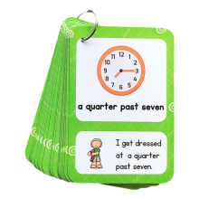 English Time Clock Expresses Students Daily Life Sentence Short Enlightenment Card Early Education Learning