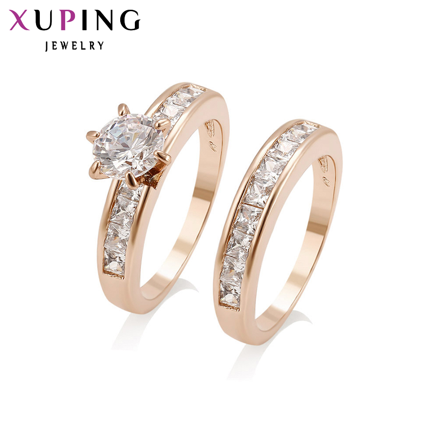 Xuping Fashion Ring Top Quality Classical Charming Wedding Ring Color Synthetic Cubic Zirconi Christmas Wholesale Jewelry 12814 charming embellished blue rhinestone wedding ring