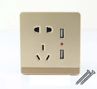 10pcs USB Port Wall Socket Charger DC Power Receptacle Outlet Plate Panel AU EU