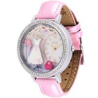 Elegant Fashion Women Delicate Crystals Watches Handmade Clay White Dresses Wrist watch Real Leather Timepiece Quartz Reloj S043