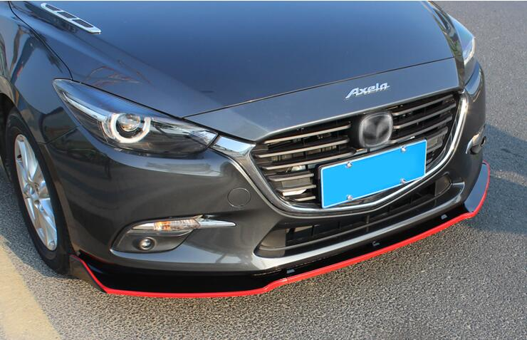 ABS Front Bumper Lip <font><b>Spoiler</b></font> Diffuser Cover For <font><b>MAZDA</b></font> <font><b>3</b></font> M3 Axela Sedan 2014 2015 2016 2017 <font><b>2018</b></font> By EMS image