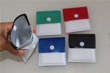 цена на 10pcs/lot PVC foil Cigarette ash bag Portable Ashtray Ash Tray For Outdoor Cigarette ash bag pocket Ash Holder Mini Small Pocket