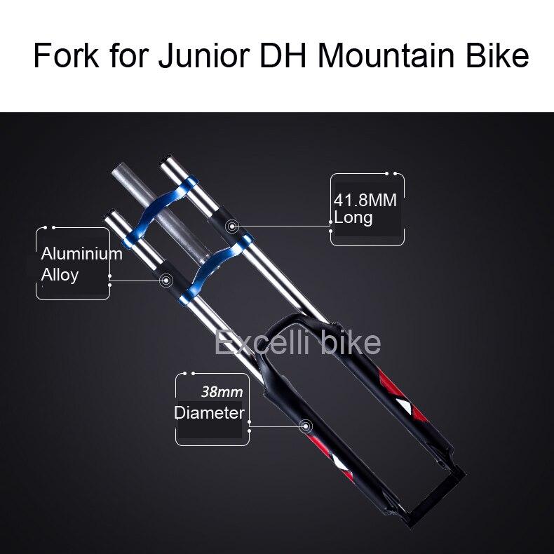 Excelli DH Downhill Junior Moutain Bike Fork Shocking Fork Aluminium Alloy Downhill Bike ...