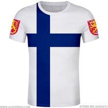 فنلندا t قميص مجاني مخصص اسم رقم fin تي شيرت علم الدولة fi الفنلندية السويدية suomi طباعة كلية صور لتقوم بها بنفسك البلد الملابس