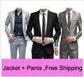 Free Shipping Slim Custom Fit Tuxedo Bridegroon Men Wedding Suit Business Blazer Suits,Fashion Suit Blazer 5 Colors Jacket+Pants
