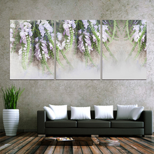 2017 New Product Framed painting Vintage hyacinth canvas wall art 3 panel for bedroom living room home decor