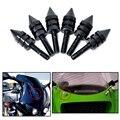 Acessórios da motocicleta Preta Universal Brisas Parafusos Espiga, carenagens, iluminação da Chapa de licença 6 PCS