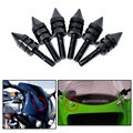 Motorcycle accessories Universal Black Spike Bolts Windscreen, Fairings, License Plate 6PCS