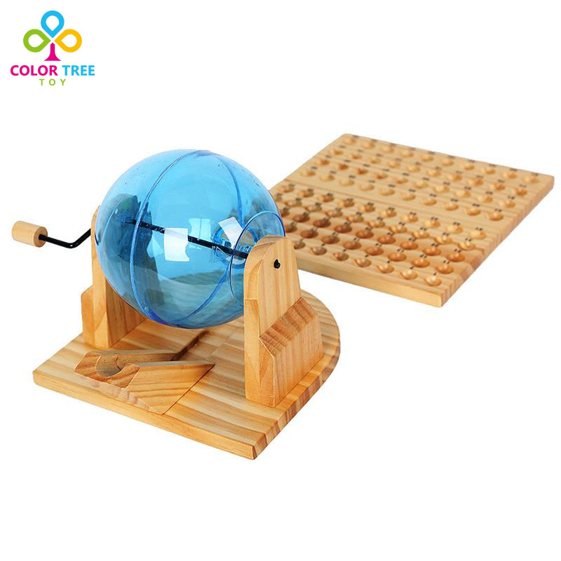 holz bingo maschine k fig spiel set mit kugeln 90 zahlen lotterie maschine desktop spielzeug in. Black Bedroom Furniture Sets. Home Design Ideas