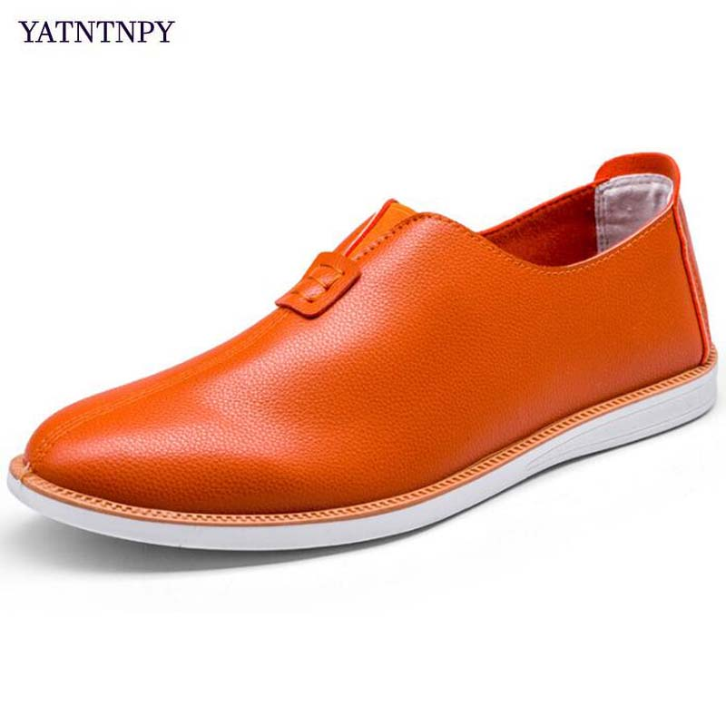 YATNTNPY Casual Men shoes Soft Pu leather Loafers shoes,Man slip-on flat driving shoes ,comfortable platform moccasins 3 colors mapleliz brand breathable slip on solid moccasins shoes for men full grain leather high quality driving soft flat men shoes