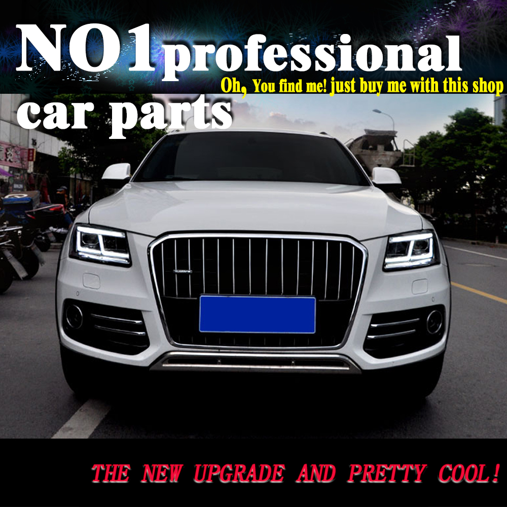 OUMIAO Car Styling for Audi Q5 Headlights 2009 2018 Q5 All LED Headlight DRL LED Lens Double Beam lens