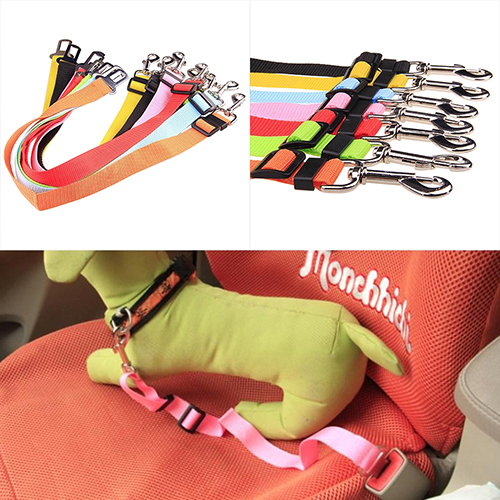 2017 New Arrival Hot! Pet Puppy Dog Cat Car Seat Belt Harness Restraint Lead Adjustable Travel Clip Code High Quality