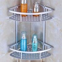 공간 알루미늄 욕실 선반 코너 벽 스토리지 랙 화장실 욕실 바구니 펜던트 선반 092 코너