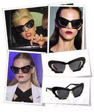 2017 Mariposa de La Manera gafas de Sol Mujeres Steampunk Retro Ojo de Gato Gafas de Sol Gafas de Sol de Mujer de Marca Vintage Espejo Gafas de Sol