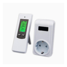 Digital wireless thermostat room temperature controller heating and cooling function with socket + LCD backlight shenzhen pitt river k81 with a password cooling or heating universal thermostat