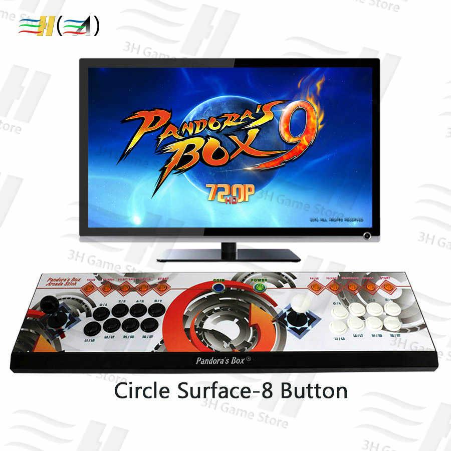 جديد باندورا بوكس 9 1500 في 1 8 زر وحدة التحكم 2 اللاعبين باندورا صندوق 5 زائد ممر ألعاب تحكم HDMI VGA إخراج HD 720p TV
