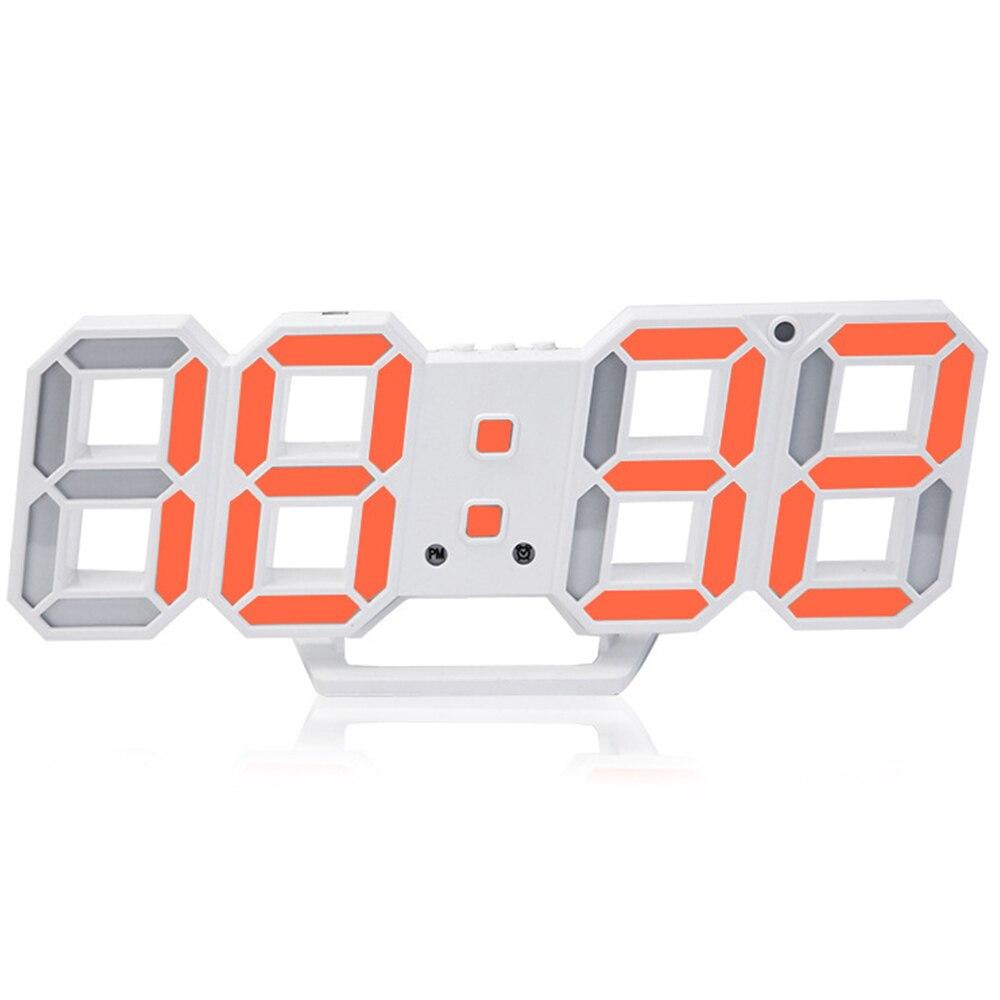 3D LED Wall Clock Modern Digital Table Desktop Alarm Clock Nightlight Wall Clock For Home Office 24 Or 12 Hour Digital Watches