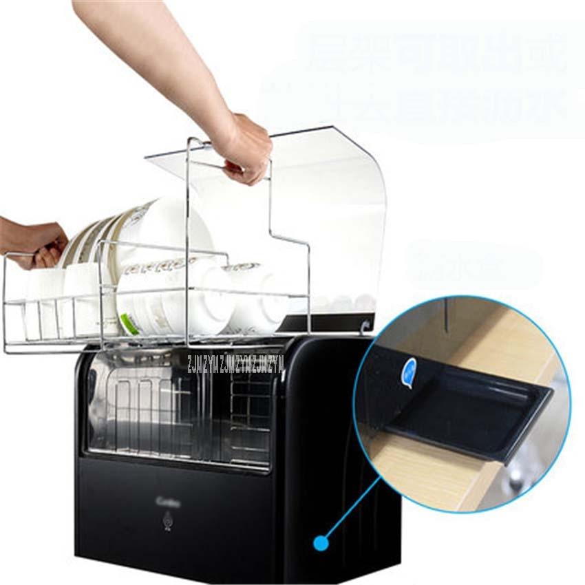 1PC ZTD28A-1 Household kitchen low-temperature disinfection cabinet 250W power desktop Ultraviolet disinfection 28L Capacity